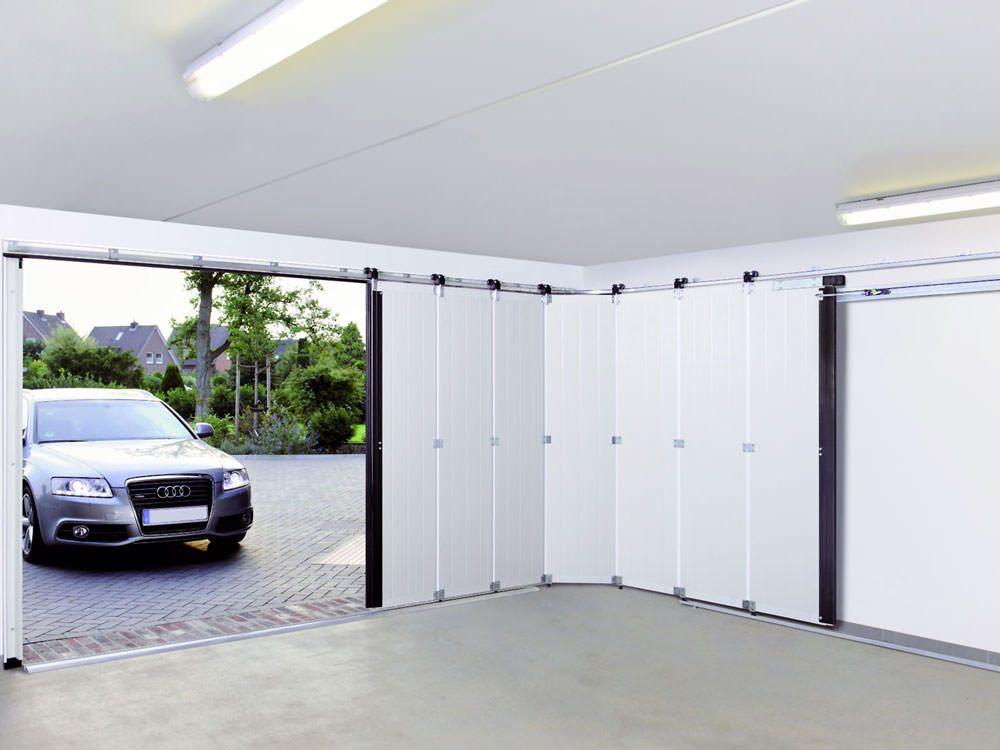 Раздвижные двери гаража своими руками 82